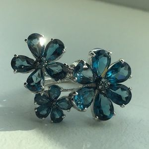 💙Stunning London Blue Topaz in Solid Silver!💙